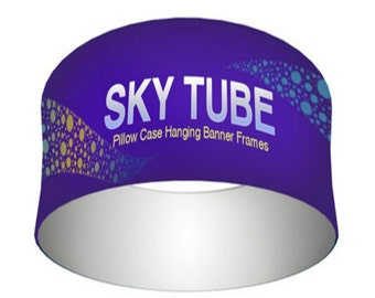 Sky Tube Circle Hanging Banners with Hardware 8' x 2'