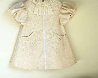 Cute Lolita Vintage Kids Dress Ivory Children Spring Coat