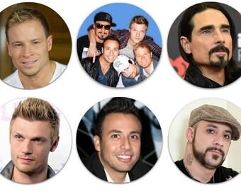 """Set of 6 Backstreet Boys LARGE 2.25"""" Pinback Buttons or Magnets - Choose Your Favorite Set BSB"""