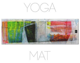 Abstract Art Yoga Mats, Abstract Print, Yoga Rugs, Yoga Gifts, Eco Friendly, Artsy Mat
