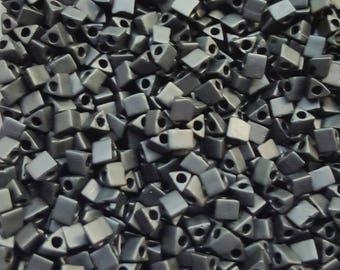Miyuki 5/0 Sharp Triangle Beads  - Matte Black STR5-401F - 10g