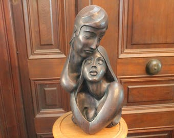 "1968 Universal Statuary Corp 18"" tall Sculpture of Lovers"