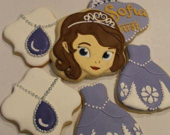Sofia the first  (12 cookies)