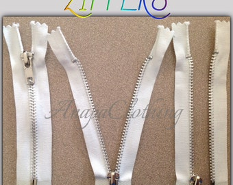 "NEW 5"" (12,7 cm) Aluminum Separating Zippers"