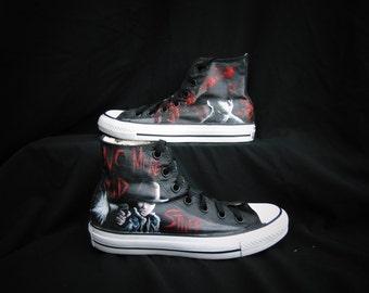 The Walking Dead Carl Custom Converse Shoes