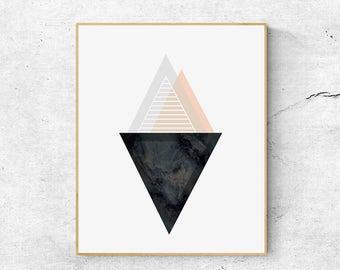 Abstract art prints, Geometric wall art print, Scandinavian print, Digital download art, Minimalist poster, Abstract wall art, Geometric art