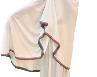 2 piece White Prayer Womens Hijab Khimar Telekung Ihram Ladies Modest Clothes White Prayer Clothes