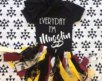 Muggle outfit-harry potter inspired outfit-baby outfit-hp baby-toddler outfit-Griffindor baby-baby shower idea-baby shower gift-newborn