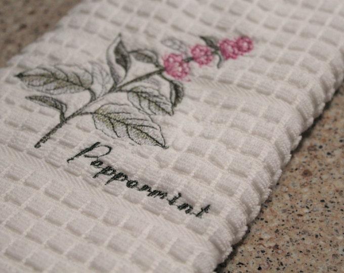 Kitchen Towel, Home Decor, Kitchen Decor, Housewarming Gift, Peppermint