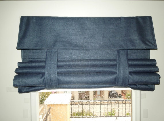 Blue Blackout French Door Curtain