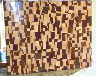 Chaotic End Grain Cutting Board Butcher Block 14.25 x 11.25 x 1.75 inches