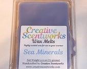 CLEARANCE Sea Minerals Scented Wax Melts, Wax Cubes, Wax Tart, Wickless Candle, Melting Wax, Wax Melt, Scent Bar, Scent Cube, Wax Bar