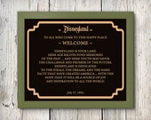 6 Disneyland signs, Dedication Disneyland, Frontierland, Tomorrowland, Fantasyland, Adventureland, Main Street, 8x10, 5x7, INSTANT DOWNLOAD