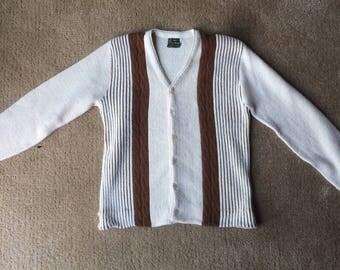 Funky 1960s Two Tone Cardigan Sweater