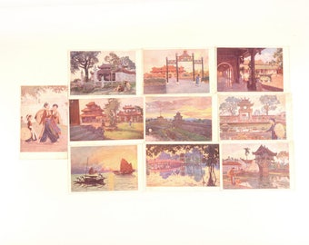 Postcards set, postcard pack, landscape postcard, Vietnam, travel postcard set, set of vintage postcards