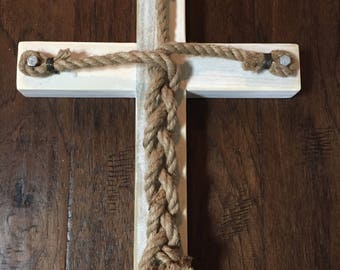 Wedding Braided Cross w/ Rope