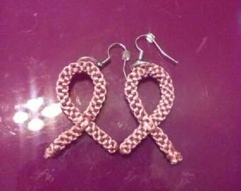 Cancer Ribbon Earrings
