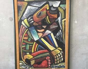 Abstract Painting by Mexican Artist Candelario Vasquez  (3GQYPU)