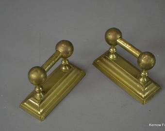 Pair Brass Poker Rests