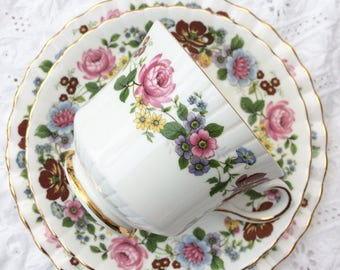 REDUCED - Royal Stafford trio - Bone china  - cup saucer and side/cake plate