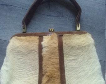 Vintage kangaroo hide bag