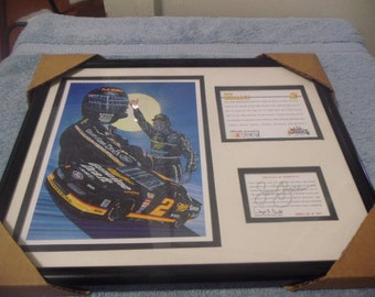 1995 Rusty Wallace 15 x 12 Plaque with  and numbered