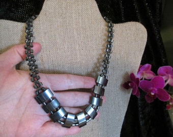 Necklace Gunmetal Links choker Jewelry Chunky metal shiny bib necklace GOTH  gunmetal necklace boho Jewelry steampunk fashion  necklace