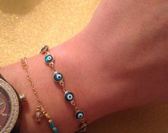Evil Eye Bracelet - Assorted Colors - Jewish Wedding, Bridesmaid Gift, Bridesmaid Bracelet, Will You Be My Bridesmaid?