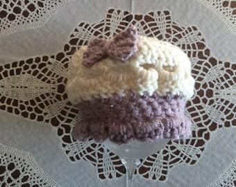 Crocheted Baby Girl Hat