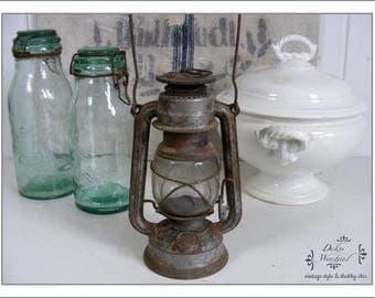 Antique german FEUERHAND STURMKAPPE - Petrolium lamp from 1939