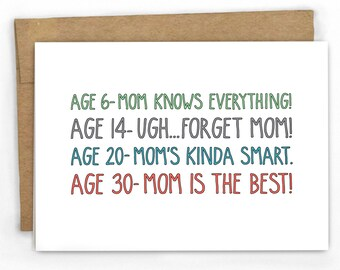 Funny Card for Mom- Through the Years... by Cypress Card Co.