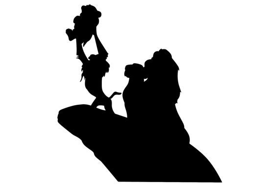 SVG disney lion king s... King Clip Art Black And White