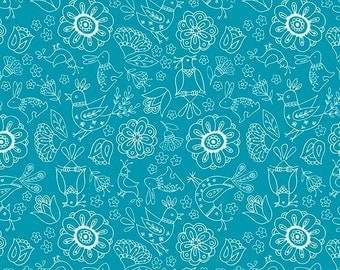 Blue Floral from Riley Blake's Dutch Floral Collection