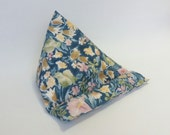 iPad stand tablet stand ereader stand technology beanie cradle bean bag rest lap cushion holder Blue Floral printed cotton fabric