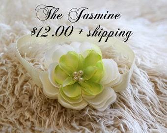 The Jasmine Handmade Newborn Headband