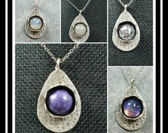 Memorial Ash Drop Pendant Necklace /Ash Necklace /Cremation Necklace / Cremation Jewelry/ Pet Memorial Ash Jewelry