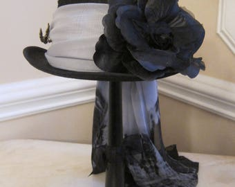 Black Top Hat Stevie Nicks  Inspired - Black