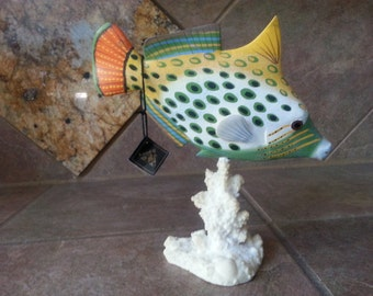 Wildlife Collectors Series, 1993 Handpainted to Capture the Splendor and Beauty of Nature at its Best, Salt Water Fish Piece, Bohemia NY