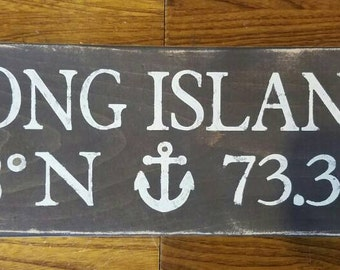 Long Island coordinates sign