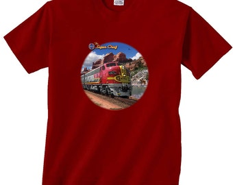 The Super Chief Santa Fe Red Train T-Shirt