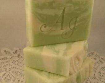 Lily of the Valley Cold Process Soap made by Anderson Island Soap.  Artisan Soap.  Gentle Soap.