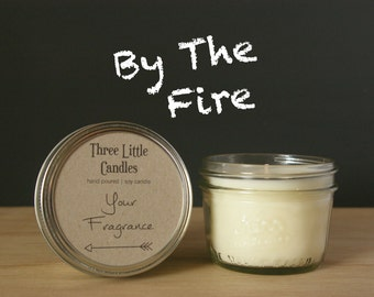 By The Fire Soy Candle Mason Jar - 170g - 30 + Hour Burn Time