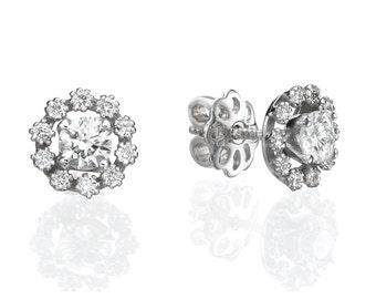 Stud earring, Gold earring, Diamond earring, Earring for woman, Tight earring, white gold earring, diamond earring studs, Ear earring
