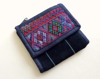 Tribal Pouch, Handwoven Wallet Purse, Ethnic Bag, Mini Crossbody Bag, Mini Fabric Bag, Boho Wallet, Fabric Wallet