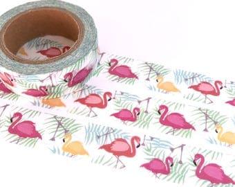 Flamingo Washi TapePink Retro Kitsch Tropical Summer Featherston Style