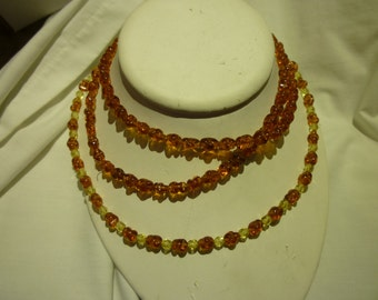 D100 Vintage Amber and Two Tone Amber Necklaces.