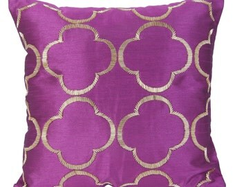 Purple Trellis Decorative Pillow Cover Purple Trellis Pillow Cover Purple Gold Accent Pillow14x14 16x16 18x18 20x20