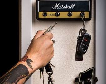 "Marshall JCM800 STANDARD ""Jack Rack""- Wall mountable guitar amp key rack"