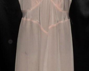 Vintage NOS 1950's Pink Charmode Shiny Rayon Full Slip 42