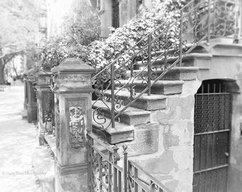 NYC Photography Print, Stairs Photography, New York Photo, Black and White Art, Wall Art Print, Steps Photograph, Architecture Art, 8 x 10